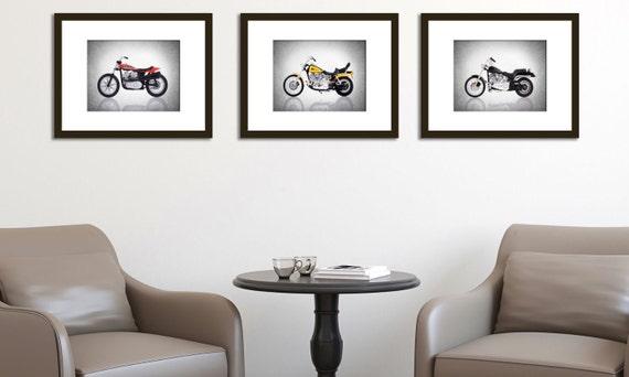 Discount Set Of 3 Harley Davidson Photo Printboys By