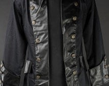 Mens Vintage Steampunk Style Pirate Jacket - Made to Order -