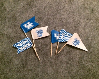 University of KENTUCKY Tailgate Party Picks: PRINTABLES! Wildcats cupcake toppers DIY download