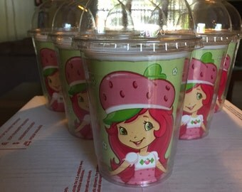 Strawberry Shortcake favor cups-8 per order
