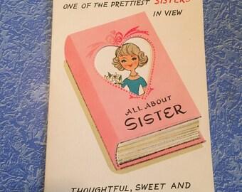 Vintage Valentines Card for Sister