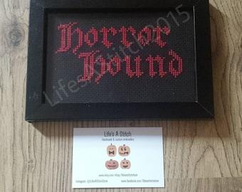 Horror Hound - Framed Cross Stitch
