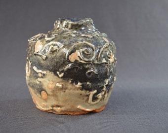 Shino Porcelain Textured Single Bud Vase