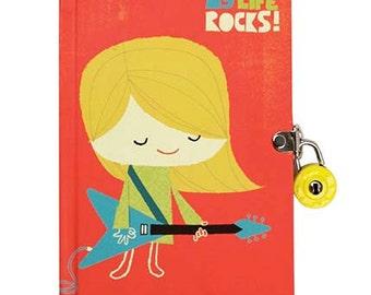 My Life Rocks Diary with Lock