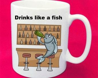 Popular sayings mug with illustration