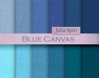 Blue Canvas Digital Paper,  Linen backgrounds, Burlap, Canvas textures in blue,  Scrapbook papers, Craft paper, Linen paper