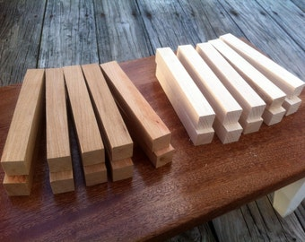 Cherry and Maple Pen Blanks set of 20