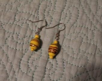 Handmade Yellow Earrings