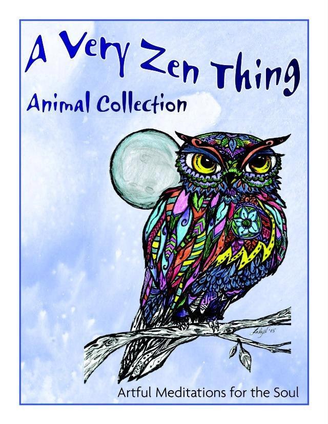 Animal Coloring Book Adult Zen