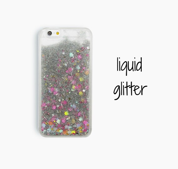 iPhone case, liquid glitter iPhone 5 5s case, clear iPhone 6 6s case ...