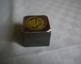stamped metal, industrial buffer/stamp - Vintage, 1970, printing block, tool