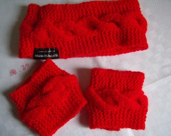 Headband, earmuffs, headband, heater-head and headlines/cuffs, knit,