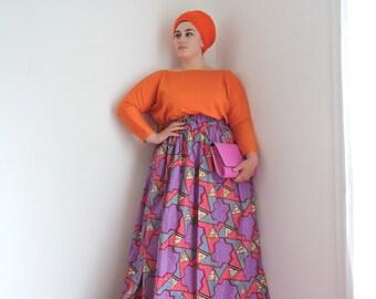 Maxi skirt in wax
