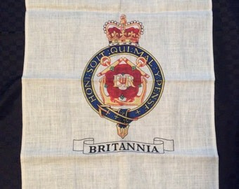 """Pure Linen """"Britannia"""" Tea Towel"""