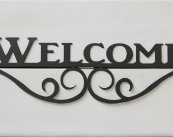 Welcome Wall Decor outdoor welcome sign   etsy