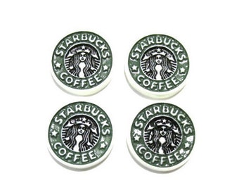 Starbucks Coffee Cabochons | Resin Flatback | DIY Supplies | Jewelry Supplies | Embellishments | Warehouse1711
