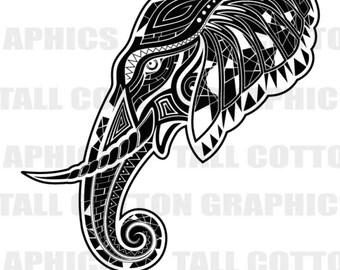 ELEPHANT INDIA  Vinyl Decal Sticker decor #WL173