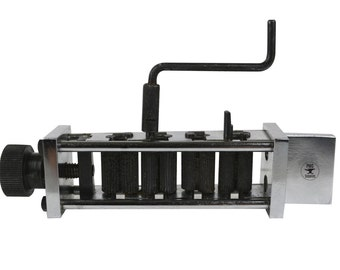"""Italian Model Zig-Zag Machine w/ 7/8"""" Wide Rollers Rolling Mill Metal Forming Jewelry Corrugated Pattern Making Wire Tool - FORM-0079"""