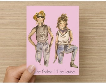 Thelma and Louise, Greeting Card, Blank