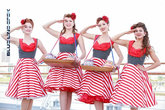 Pin Up Dress USA American Flag Dress Stars Stripes Vintage Rockabilly Dress 50s Retro Swing Independence Day Dress Plus Size Party Dress