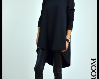 Black Loose top / Loose blouse / Black Oversize Top / Loose tunic
