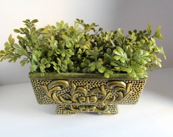 Greenery Planter, Flower Pot, Rectangle Planter, Succulent Planter, Indoor Planter