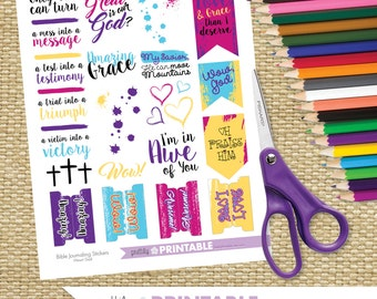 Bible Journaling Stickers Printable - Wow, God!