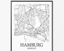 beliebte artikel f r hamburg poster auf etsy. Black Bedroom Furniture Sets. Home Design Ideas