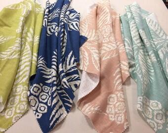 Custom Drapery, Custom Curtains, Contemporary, Beach Design, Beach Drapery With Lining, Made to Order, *Pina*