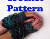 Crochet Gloves Pattern, Dragon Scale Crochet Pattern, Crocodile Crochet Pattern, Crochet Fingerless Gloves, Fall Gloves, Geeky Gloves PDF