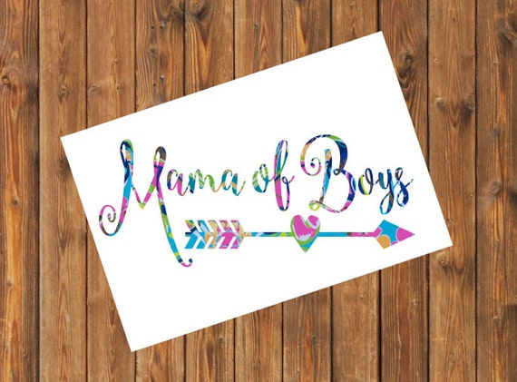 Free Shipping-Exotic Garden Mama of Girl/Boy, Lilly Pulitzer, Mothers of Boys Sticker, Yeti RTIC Tumbler Decal, Gypsy Soul,Boy/Girl Mom