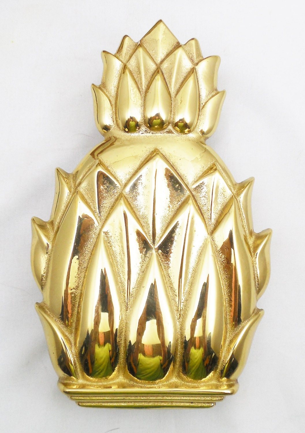 Virginia metalcrafters polished brass pineapple door knocker 6 - Pineapple door knocker ...