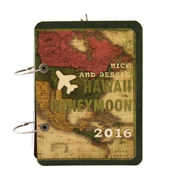 Wedding Gift - Hawaii Honeymoon Album - Travel Journal Scrapbook ...