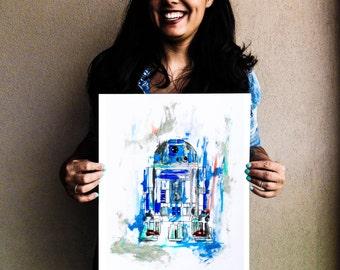 R2-D2 Acrylic Painting Print