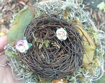 Handmade Woodland Nest Decor