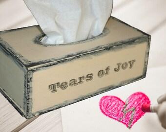 Tissue Box Holder, Tissue Box, Kleenex, Kleenex Box, kleenex Cover, Tears of Joy, Tissue box cover, Tissue Cover, Tissue holder, TISSUE BOX