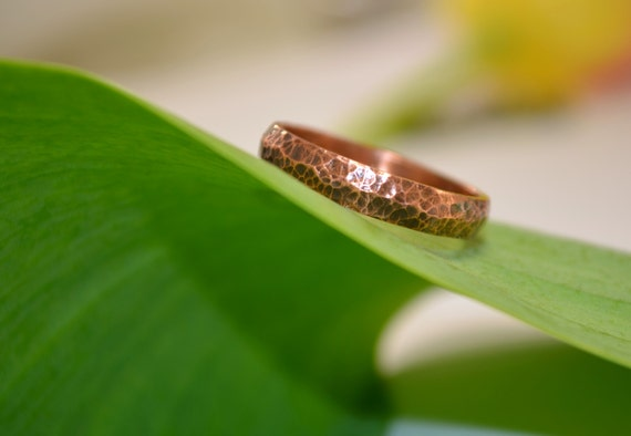 rustic engagement ring for him boho style copper men ring