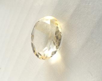 Lemon Quartz 6.2 carat loose gemstone - Chipped, needs refaceted