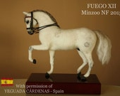 Needle felted horse, OOAK unique equestrian sculpture of Fuego XII