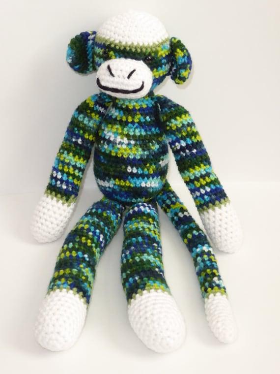 Amigurumi Crochet Sock Monkey : Items similar to Crochet Sock Monkey, Amigurumi Sock ...
