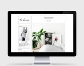 RESPONSIVE BLOGGER TEMPLATE - The Basics - Custom Header, Simple, Chic, Minimal, Sleek