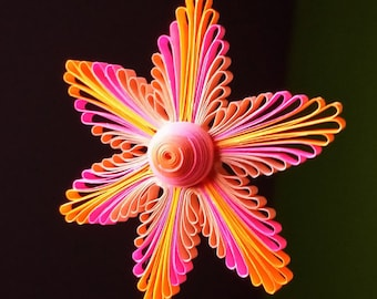 Quilling flower etsy paper quilled flower ornaments 225 25 in diameter paper gift mightylinksfo