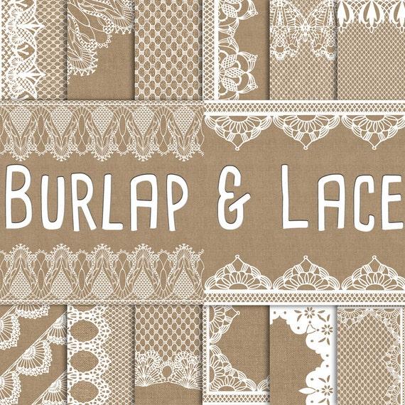 Lace and Burlap Wedding
