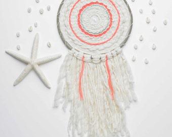 Totem - Weaving contemporary - circular weaving - weaving round - wall weaving - Circle woven wall hanging - Tapestry weaving Fiber Art