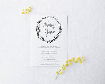Minimal Wedding Invitation - Printable Design