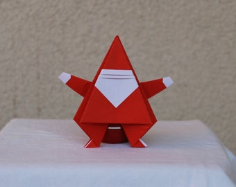 Santa - Santa Claus - Origami - Christmas - Father Christmas - Saint Nicholas - Ornament - Figure - Noel Baba - Decoration - Ornamentation