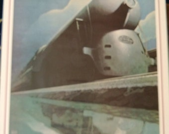 20th Century Limited Train Poster New York Chicago 1976 Free Shipping