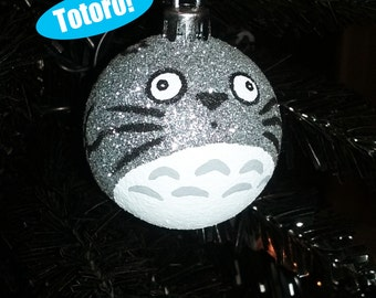 My Neighbor Totoro Inspired Miyazaki Studio Ghibli Anime Shatterproof Hand-Painted Christmas Ornament! Available in 4 sizes!