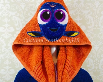 Baby Dory Finding Dory Finding Nemo Inspired Hooded Towel on High Quality Belk Department Store Towels
