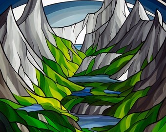 Spanish Lakes Basin 8x10 giclee print